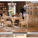 7PCS ALL WOOD TRADITIONAL DINING SET, ITEM# CM3846WH