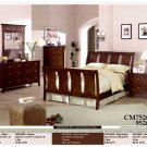 NEW 5pc Queen All Wood Contemporary Bedroom Set #CM7526