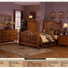 NEW 5pc Queen All Wood Traditional Bedroom Set #CM7537
