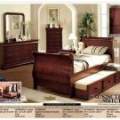 NEW 5pc Twin Trundle Wood Traditional Bedroom CM7828CTR