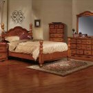 NEW 5pc Queen All Wood Traditional Bedroom Set C-B5900
