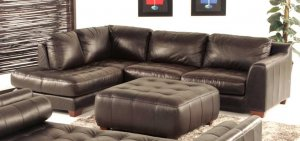 NEW 3PCS CONTEMPORARY SECTIONAL LEATHER SOFA  ITEM #ZEN
