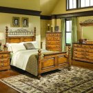 NEW 5pc Queen All Wood Contemporary Bedroom Set C-B9700