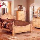 NEW 5pcs All Wood Traditional Bedroom Set - ITEM#F9134