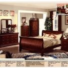 NEW 5pc Queen All Wood Traditional Bedroom Set #CM7828