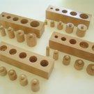Mini Montessori Knobbed Cylinder Blocks-set of four-Sale