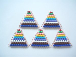 Montessori Math: 5 sets of Colored Bead Stairs 1-9