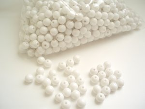 Beads:White (5 oz, over 500 units)