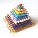 Montessori Colored Bead Squares 1-10