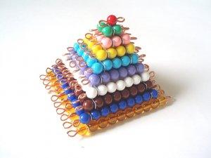 Montessori Colored Bead Squares 1-10