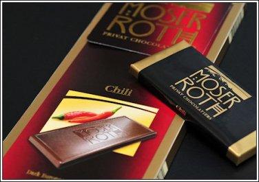 Moser Roth German Dark Chocolate Bars -- Chili (6 pack)
