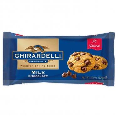 Ghirardelli Premium Milk Chocolate Baking Chips 11.5 oz(Pack of 6)