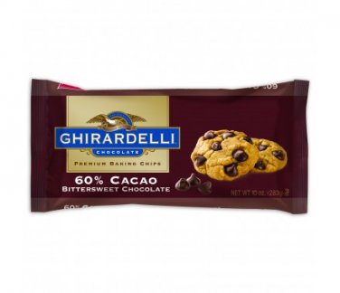 Ghirardelli Bitter-Sweet-60% Cocao Baking Chips 10 oz (Pack of 6)