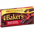 Baker's Semi-sweet Baking Chocolate Bar 4 oz(Pack of 6)