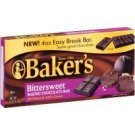 Baker's Bittersweet Baking Chocolate Bar 4 oz (Pack of 6)