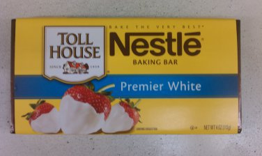 Nestle Toll House Premier White Baking Bar 4 oz (Pack of 10)