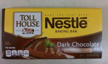 Nestle Toll House Dark Chocolate Baking Bar 4 oz(Pack of 10)