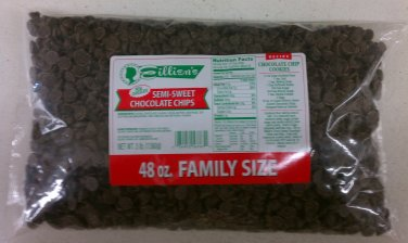 Eillien's Semi-Sweet Chocolate chips Family Size 3 lbs