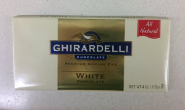 Ghirardelli White Chocolate Premium Baking Bar 4 oz(Pack of 10)