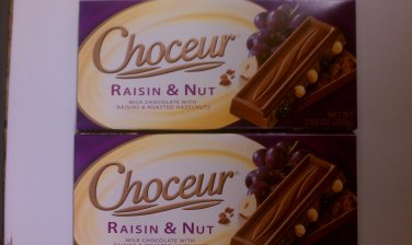 Choceur Milk Chocolate -- Raisin & Nut 7.05 oz (Pack of 6)