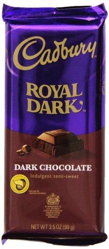 Cadbury Royal Dark Bar, Dark Semi-Sweet Chocolate, 3.5-Ounce Bars(Pack of 6)