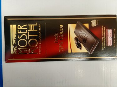 Moser Roth Premium Dark Chocolate 70% (Pack of 6)
