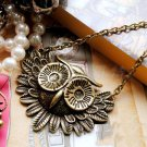 Women Alloy Novelty Sweater Chain Owl Pendant