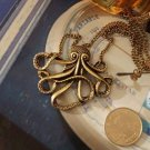 Retro Style Octopus Pendant Sweater Chain Necklace