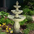 Classic Tulip 3 Tier Fountain by Outdoor Classics - Garden Stone Finish