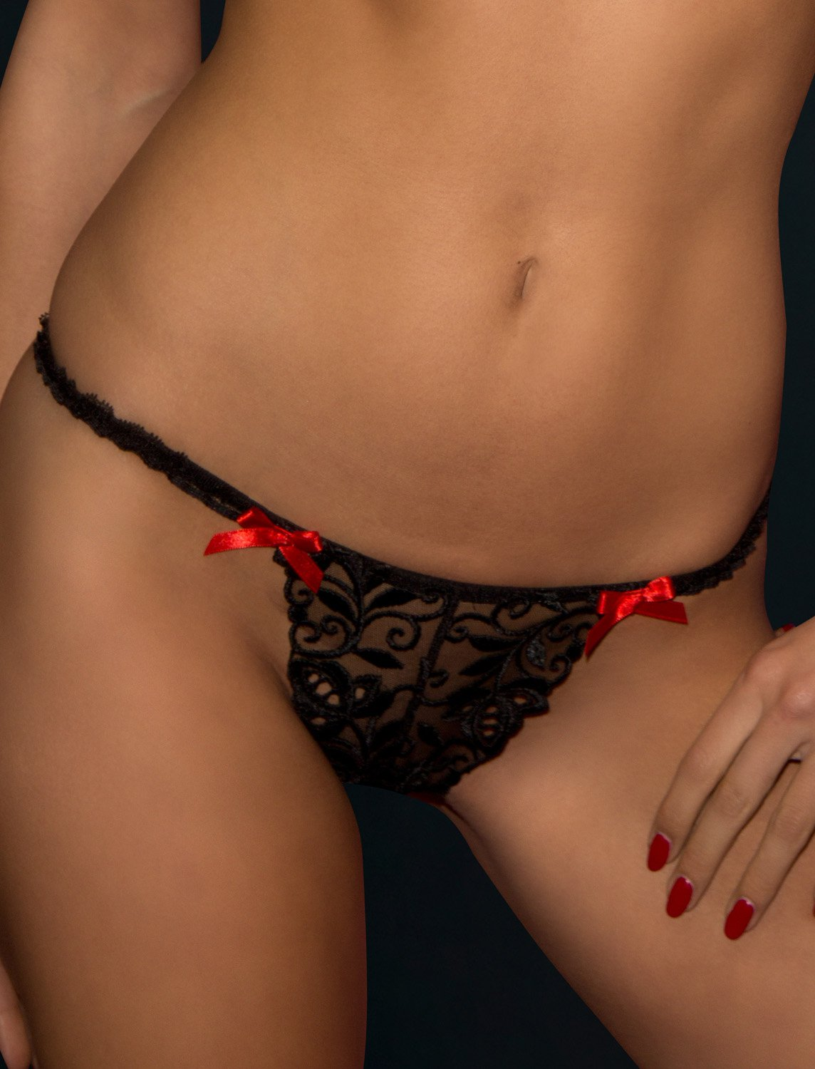 Peche French thong, size M
