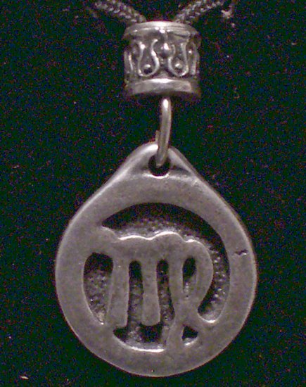 Pewter Virgo Pendant