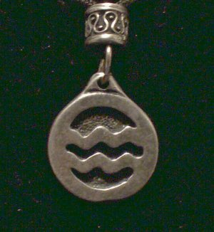 Pewter Aquarius Pendant