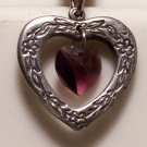 February Birthstone Heart Pendant