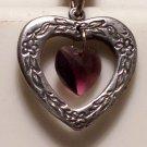 February Birthstone Heart Pendant