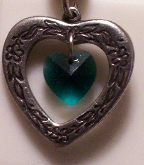 June Birthstone Heart Pendant