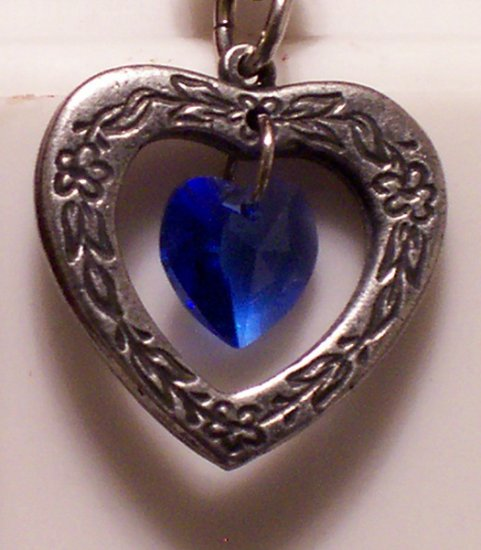 September Birthstone Heart Pendant