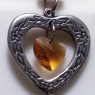 November Birthstone Heart Pendant