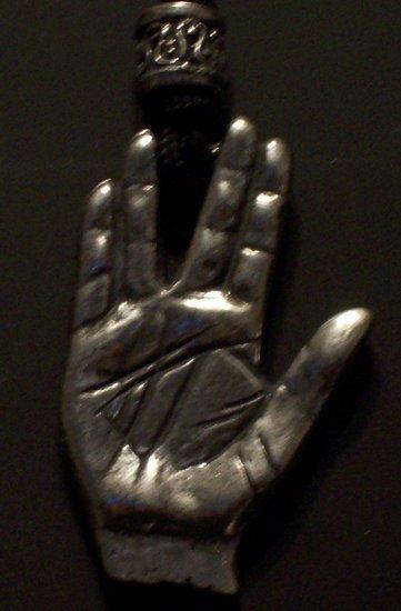 "Pewter ""Vulcan Hand Salute"" Pendant"