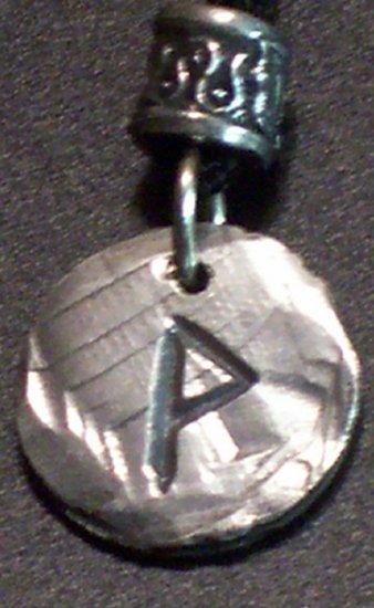 Pewter Rune Pendant- Wunjo- Joy