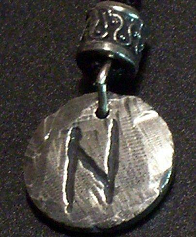 Pewter Rune Pendant- Hagall- Change