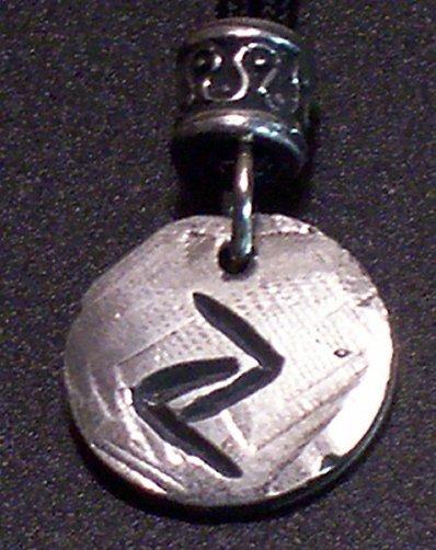 Pewter Rune Pendant-Jera- Breakthrough