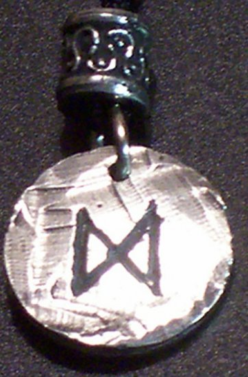 Pewter Rune Pendant- Daeg- Increase and Growth