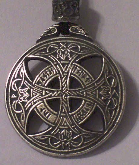 Hand Cast Pewter Celtic Love Amulet