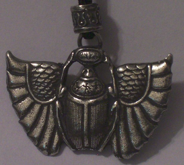 Hand Cast Pewter Egyptian Scarab Pendant