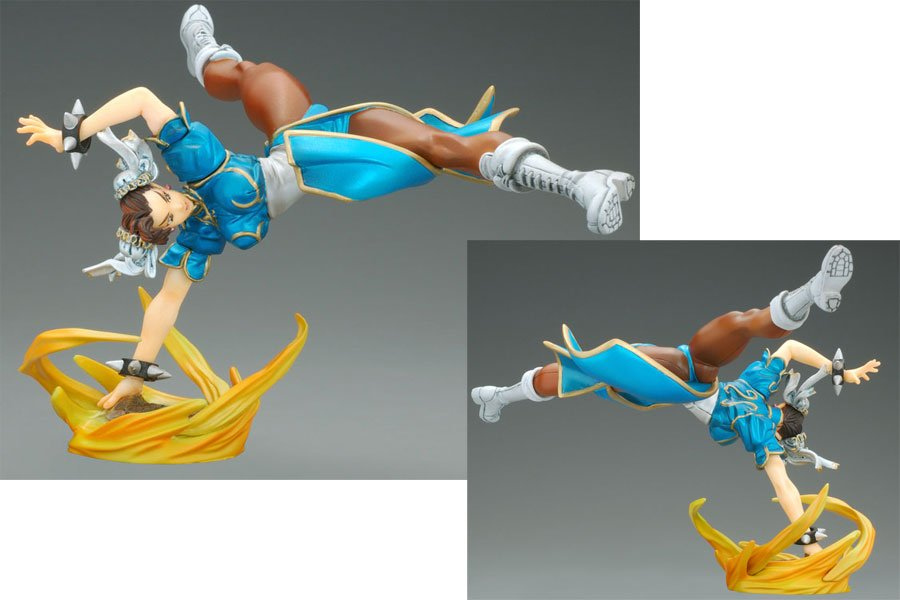 "STREET FIGHTER II 2 FIGHTING CHUN LI - 8"" FIGURE STATUE - YAMATO / CAPCOM GIRLS COLLECTION"