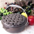 "Old Mountain Cast Iron ""Pie-Steamer"" Casserole"