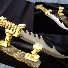Skeleton Hunting Knife With Stand
