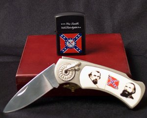 Conferderate Knife & Lighter