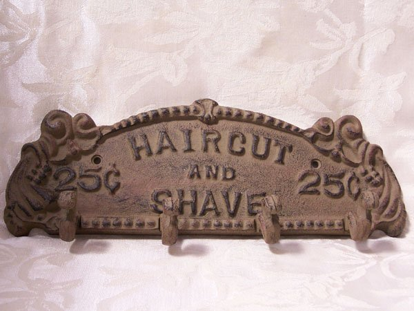 Haircut and Shave Hanger