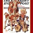Sign Saturday Evening Post Little Cowboy